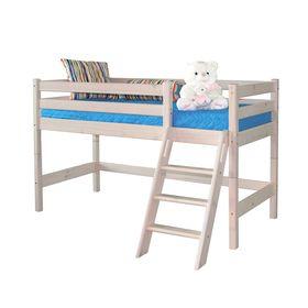 Низкая кровать Соня с наклонной лестницей Вариант 12 Ош