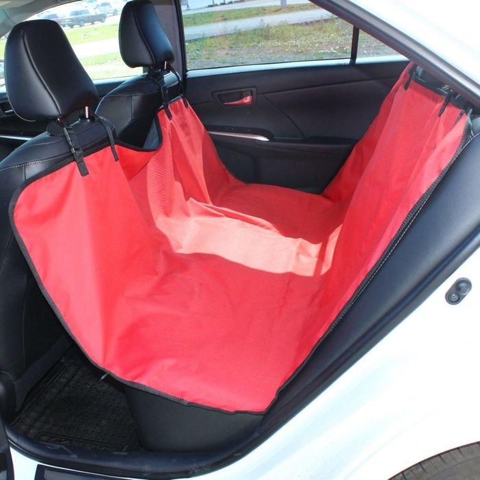 Авточехол-накидка на заднее сиденье Tplus, оксфорд, красный, T002211