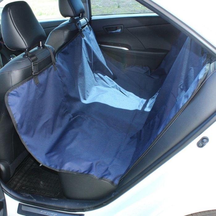 Авточехол-накидка на заднее сиденье Tplus, оксфорд, синий, T002208