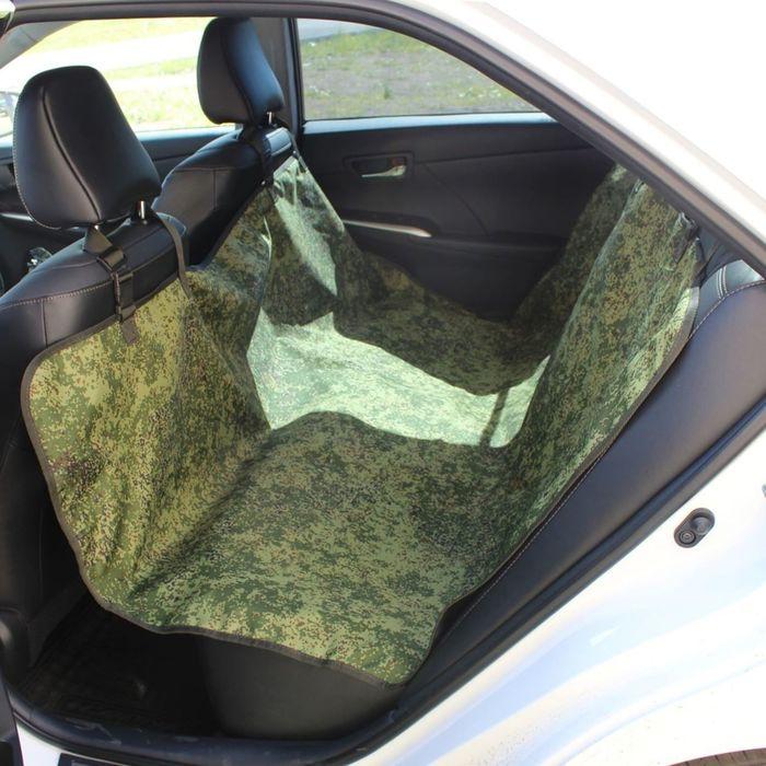 Авточехол-накидка на заднее сиденье Tplus, оксфорд, цифра, T002207