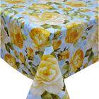 """Клеенка столовая 130х165 см """"Раскрытые цветы"""""""