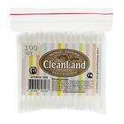 Ватные палочки CleanLand, 100 шт. в пакете зип лок