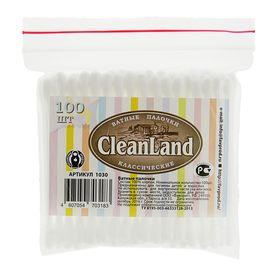 Ватные палочки CleanLand, 100 шт. в пакете зип лок Ош