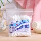 Ватные палочки «Soft Care», 100 шт. в пакете зип лок