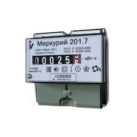 Счетчик 'Меркурий' 201.7, 5-60 А, однофазный, однотарифный Ош