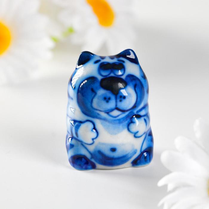 Сувенир керамика Кот Таити маленький 4х3 см