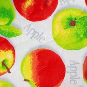 Чехол на стул с завязками 35*38  Яблочное угощение бязь 125г/м, хл100%