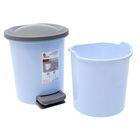 Ведро для мусора с педалью, 6 л, цвет МИКС - Фото 3