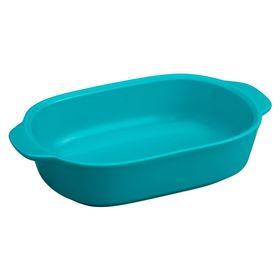 Форма для запекания прямоугольная, цвет синий, 1.4 л