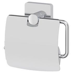 Держатель туалетной бумаги с крышкой, хром, ELLUX