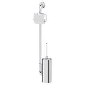 Штанга с двумя аксессуарами для туалета 77 см, хром, ELLUX Ош