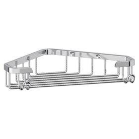 Мыльница-решетка с крючками угловая 18 см, хром, FBS