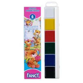 Акварель Fancy «Мишки», 6 цветов, в картонной коробке, без кисти