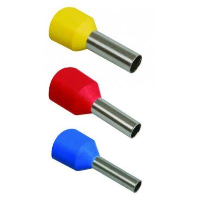 Наконечник-гильза IEK Е0508, 0.5 кв.мм, изолированный, уп. 100 шт, UGN10-D05-02-08