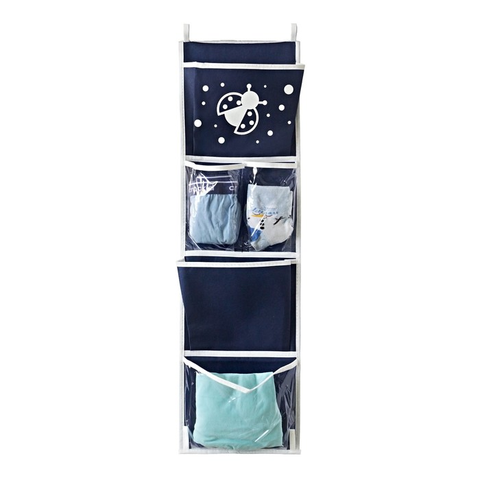 Карманы подвесные для шкафчика в детский сад, цвет тёмно-синий