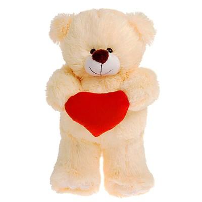 Мягкая игрушка «Медведь с сердцем», 30 см, цвет МИКС - Фото 1