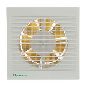 Вентилятор вытяжной 'Домовент' 125 С, d=125 мм, 220-240 В, белый Ош