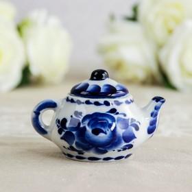 Чайник «Сувенирный», 4×4×6 см, гжель Ош