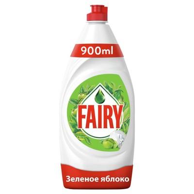 """Средство для мытья посуды FAIRY """"Зеленое яблоко"""", 900 мл - Фото 1"""