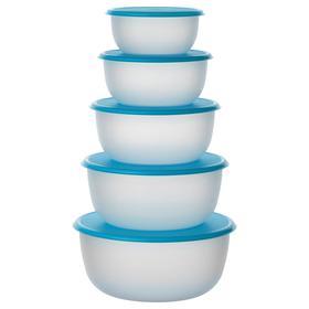 Набор контейнеров круглой формы, 5 шт, цвет синий РЕДА