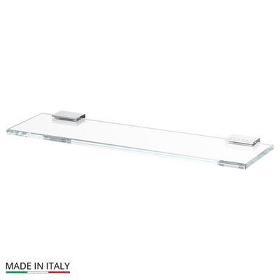 Полка с держателями, ширина 40 см, стекло, хром-стразы