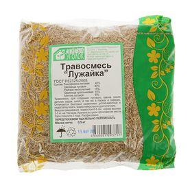 """Газонная травосмесь  """"Лужайка"""" 0.5 кг (10шт/уп) Зеленый уголок"""