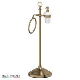 Стойка с двумя аксессуарами для туалета с биде 80 cm, фарфор; античная бронза, 3SC