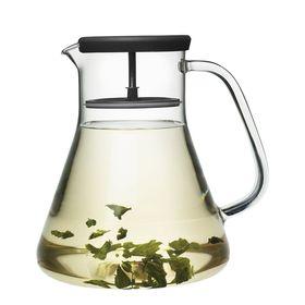 Чайник стеклянный Dancing Leaf, чёрный