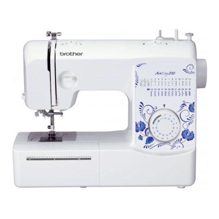 Швейная машина Brother ArtCity 200, 51 Вт, 25 операций, полуавтомат, белая