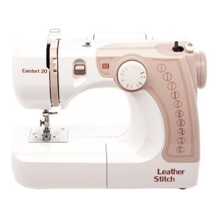 Швейная машина Comfort 20, 24 Вт, 12 операций, полуавтомат, бело-бежевая