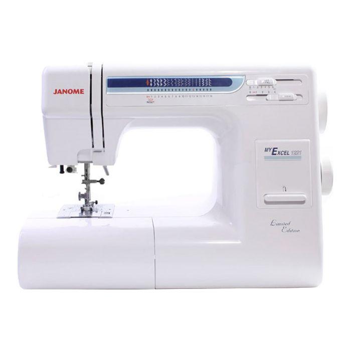 Швейная машина Janome My Excel 1221, 75 Вт, 19 операций, автомат, бело-синяя