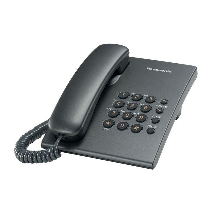 Телефон проводной Panasonic KX-TS2350RUT темно-серый