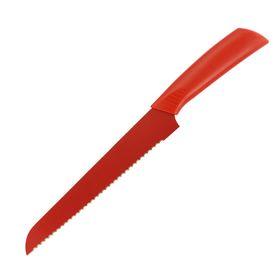 Нож хлебный 20 см, цвет МИКС