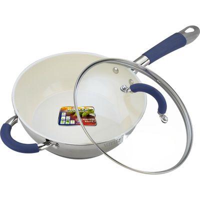 Сковорода Вок с крышкой 24 см, 2,7 л - Фото 1