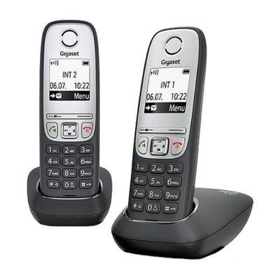 Радиотелефон Dect Gigaset A415 Duo чёрный, АОН - Фото 1