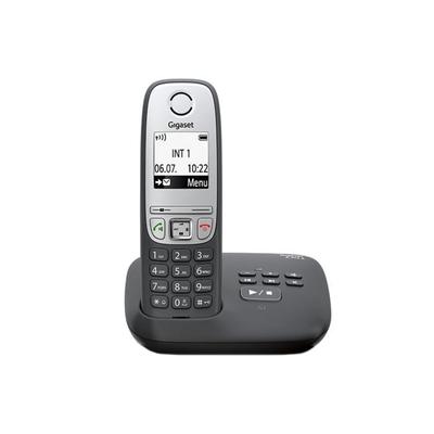 Радиотелефон Gigaset Dect A415A автоответчик, АОН, чёрный - Фото 1