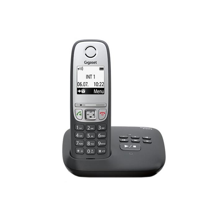 Радиотелефон Gigaset Dect A415A автоответчик, АОН, чёрный