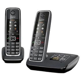 Радиотелефон Gigaset Dect C530A DUO автоответчик, АОН, черный