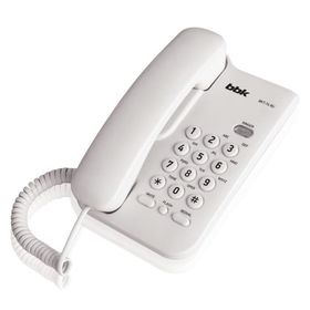 Телефон проводной BBK BKT-74 RU белый Ош