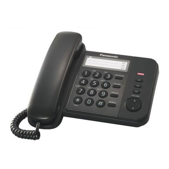 Телефон проводной Panasonic KX-TS2352RUB чёрный