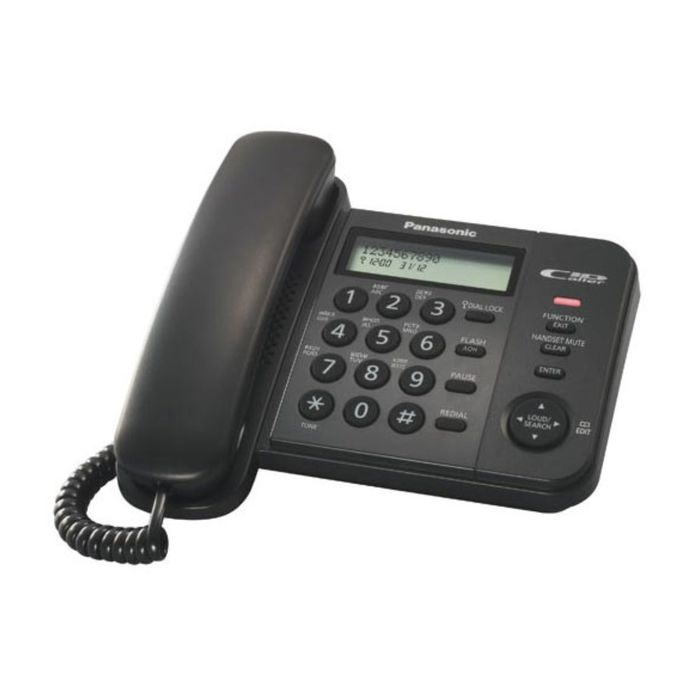 Телефон проводной Panasonic KX-TS2356RUB чёрный