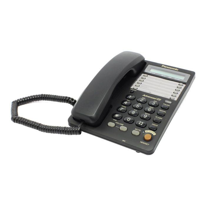 Телефон проводной Panasonic KX-TS2365RUB чёрный