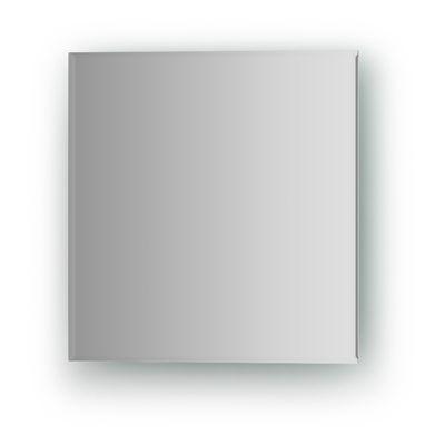 Зеркальная плитка с фацетом 5 мм, квадрат 25 х 25 см, серебро Evoform