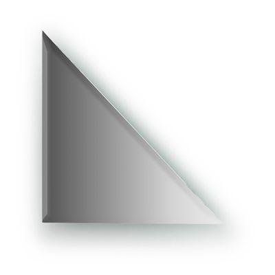 Зеркальная плитка с фацетом 10 мм, треугольник 25 х 25 см, серебро Evoform