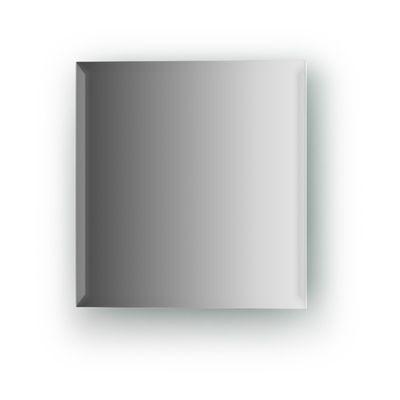 Зеркальная плитка с фацетом 10 мм, квадрат 20 х 20 см, серебро Evoform