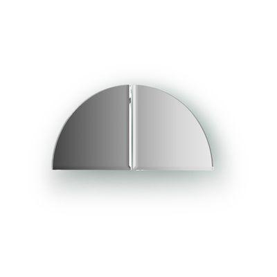 Зеркальная плитка с фацетом 5 мм, - комплект 2 шт четверть круга 10 х 10 см, серебро Evoform