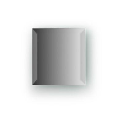 Зеркальная плитка с фацетом 15 мм, квадрат 15 х 15 см, серебро Evoform