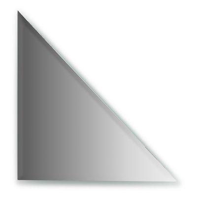 Зеркальная плитка с фацетом 10 мм, треугольник 30 х 30 см, серебро Evoform