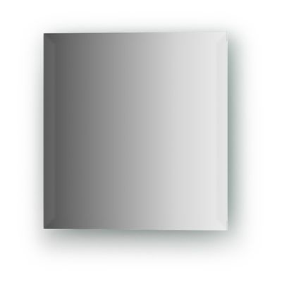 Зеркальная плитка с фацетом 15 мм, квадрат 25 х 25 см, серебро Evoform