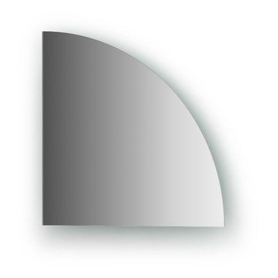 Зеркальная плитка со шлифованной кромкой четверть круга 25 х 25 см, серебро Evoform